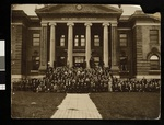 Group photograph taken in front of one of the buildings of Red Wing Seminary, Red Wing, Minnesota