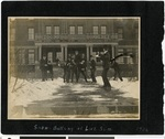 "Seminarians ""Snowballing"" at Luther Seminary on Hamline Avenue, St. Paul, Minnesota, 1906"