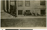 United Church Seminary students relaxing outside, ca. 1905, St. Paul, Minnesota