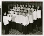 Choir in rehearsal, Northwestern Lutheran Theological Seminary, 1958, Minneapolis, Minnesota
