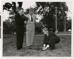 Alvin N. Rogness, T.F. Gullixson, and Fredrik A. Schiotz planting a seedling on the campus of Luther Theological Seminary, St. Paul, Minnesota