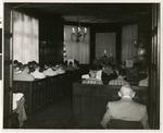 Chapel service, Passavant Hall, Northwestern Lutheran Theological Seminary, 1958, Minneapolis, Minnesota