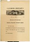 Augsburg Seminary diploma from the 1880s, Minneapolis, Minnesota