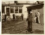 Skip Day at Northwestern Lutheran Theological Seminary, playing horseshoes, 1930?, Minneapolis, Minnesota