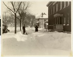 Winter scene at Northeast Minneapolis location (1018 19th Avenue North East) of Northwestern Lutheran Theological Seminary, 1929, Minneapolis, Minnesota